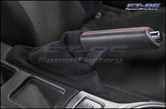 JDM Station Alcantara Style eBrake Boot with Red Stitching - 2013+ FR-S / BRZ / 86