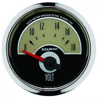 "AutoMeter Gauges 2-1/16"" VOLTMETER, 8-18V, AIR-CORE, CRUISER"