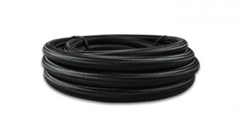 Vibrant -8 AN Black Nylon Braided Flex Hose (10 foot roll)