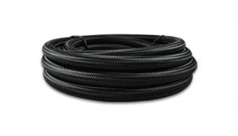 Vibrant -12 AN Black Nylon Braided Flex Hose .68in ID (50 foot roll)