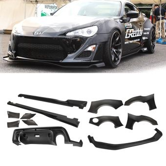 Ikon Motorsports 2013-2016 Scion FRS GT86 ABS Front Rear Lip + Side Skirts Body Kit Spoiler
