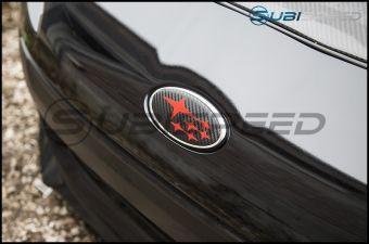 STICKER FAB FRONT AND REAR 3D CARBON FIBER EMBLEM OVERLAYS 2013-2020 Subaru BRZ - Matte Black with White Star
