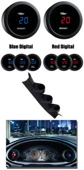 GlowShift Custom Digital Gauge Package - 2013+ FR-S / BRZ