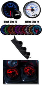 GlowShift Elite 10 Custom Gauge Package - 2013+ FR-S / BRZ