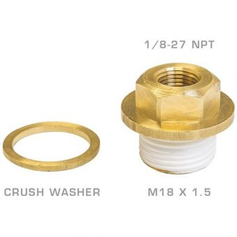 Glow Shift Oil Galley Plug Adapter for Subaru EJ Engines