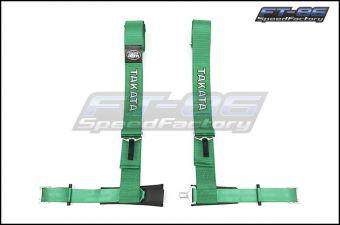 "Takata 4 point Street Belt 3"" w/ ASM (Green) - Universal"