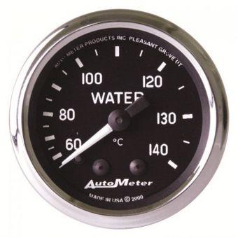 "AutoMeter Gauges 2-1/16"" WATER TEMPERATURE, 60-140 °C, 6 FT., MECHANICAL,, 6 FT., MECHANICAL, COBRA"