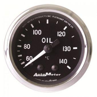 "AutoMeter Gauges 2-1/16"" OIL TEMPERATURE, 60-140 °C, 6 FT., MECHANICAL,, 8 FT., MECHANICAL, COBRA"