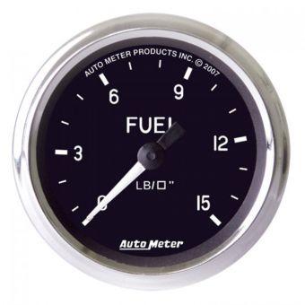 "AutoMeter Gauges 2-1/16"" FUEL PRESSURE, 0-15 PSI, MECHANICAL, COBRA"