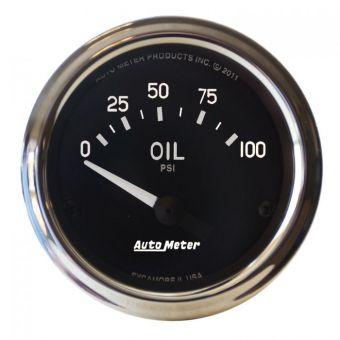 "AutoMeter Gauges 2-1/16"" OIL PRESSURE, 0-100 PSI, AIR-CORE, AIR-CORE, COBRA"