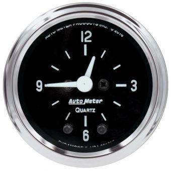 """AutoMeter Gauges 2-1/16"""" CLOCK, 12 HOUR, COBRA"""