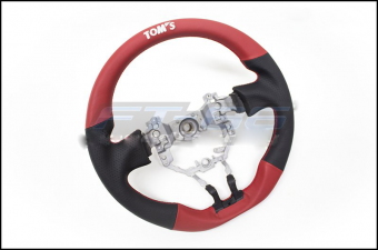 TOM'S BLACK / RED LEATHER STEERING WHEEL - 2013+ FR-S / BRZ