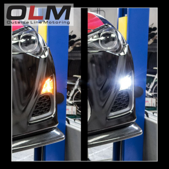 OLM Switchback Amber / White Turn Signal and Parking Light Bulb - 2013+ FR-S