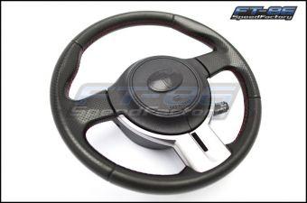 Toyota T / Cowboy Hat Steering Wheel Emblem Overlay (Matte Black) - 2013+ FR-S