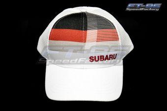 Subaru Front White Stripe Cap - Universal