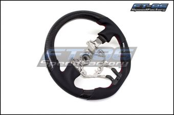 OEM Fit Black Carbon Fiber / Leather Steering Wheel - 2013+ FR-S / BRZ