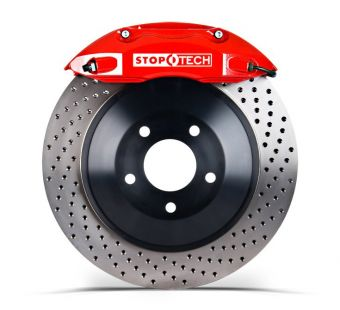 Stoptech 355x32 Big Brake Kit Drilled / Red (Front) - 2013+ FR-S / BRZ