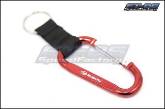 Subaru Red Carabiner Keychain - Universal
