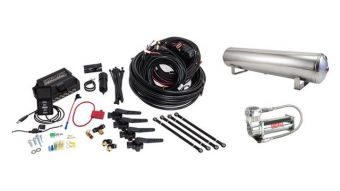 Air Lift Performance 3H (3/8 Air Line 4 Gal 5-Port  Polished Aluminum Tank VIAIR 444C Comp)