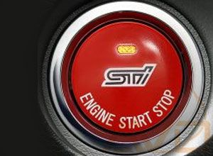 SUBARU STI RED JDM PUSH TO START BUTTON WITH STATUS LIGHT - 2013+ BRZ