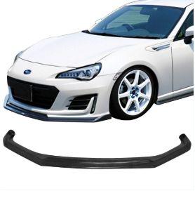 Ikon Motorsports Fits 17-19 Subaru BRZ CS Style Front Bumper Lip Spoiler Bodykit Black - PU