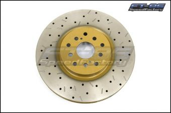 DBA T3 Clubspec 4000XS Series Drilled and Slotted Rotor (Front) - 2013+ FR-S / BRZ / 86 (Performance Package)