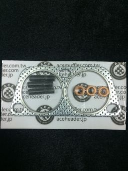 Ace Header TYPE A/TYPE B OVERPIPE GASKET AND HARDWARE KIT
