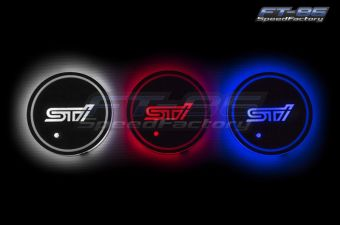 "GCS ""STI"" Style LED Light Up Coasters"