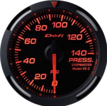 Defi Red Racer Pressure Gauge Imperial 52mm 140 PSI