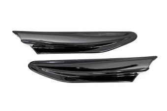 OLM PAINT MATCHED TRD STYLE AERO FINS 2013+ FR-S / BRZ / 86 - Crystal Black Silica / Raven
