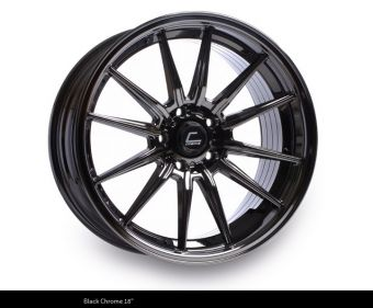 Cosmis Racing R1 PRO 18x10.5 +32mm 5x100 COLOR: Black Chrome