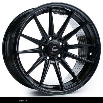 Cosmis Racing R1 18x8.5 +35mm 5x100 COLOR: Black