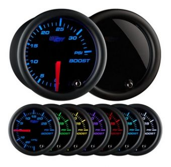 Glowshift Tinted 7 Color 35 PSI Boost Gauge