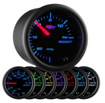 Glowshift Black 7 Color 15 PSI Boost/Vacuum Gauge