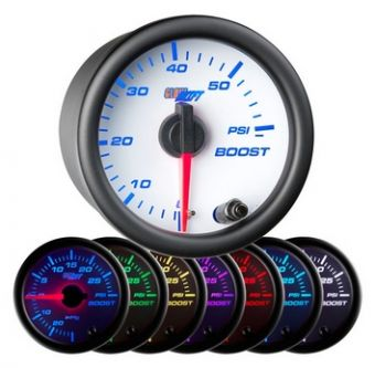 Glowshift White 7 Color 60 PSI Boost Gauge