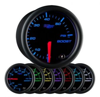 Glowshift Black 7 Color 60 PSI Boost Gauge