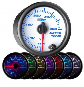 Glowshift White 7 Color Water Temperature Gauge