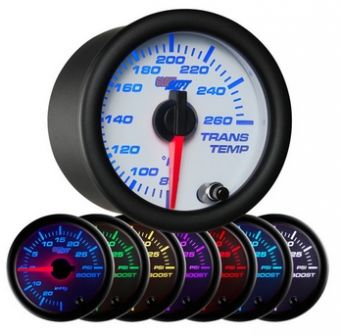 Glowshift White 7 Color Transmission Temperature Gauge