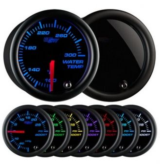 Glowshift Tinted 7 Color Water Temperature Gauge
