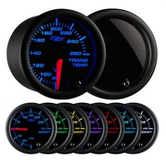Glowshift Tinted 7 Color Transmission Temperature Gauge