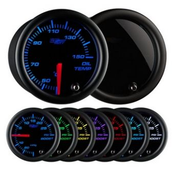 Glowshift Tinted 7 Color Celsius Oil Temperature Gauge