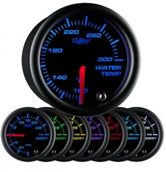 Glowshift Black 7 Color Water Temperature Gauge