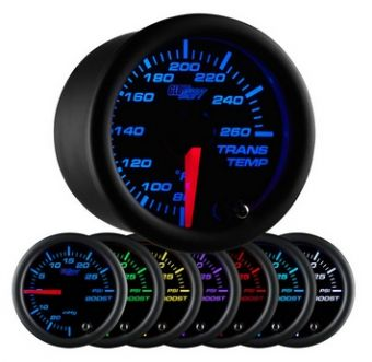 Glowshift Black 7 Color Transmission Temperature Gauge