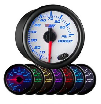 Glowshift White 7 Color 100 PSI Boost Gauge
