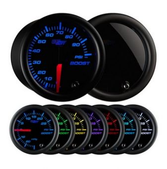 Glowshift Tinted 7 Color 100 PSI Boost Gauge