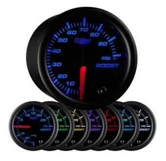 Glowshift Black 7 Color 100 PSI Boost Gauge