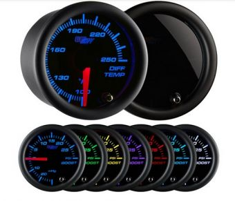 Glowshift Tinted 7 Color Differential Temperature Gauge