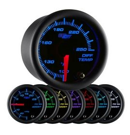 Glowshift Black 7 Color Differential Temperature Gauge
