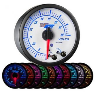 Glowshift White Elite 10 Color Volt Gauge