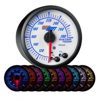 Glowshift White Elite 10 Color Water Temperature Gauge